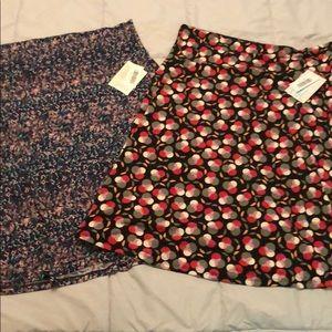 Two Lularoe Azure skirts size 2XL NWT